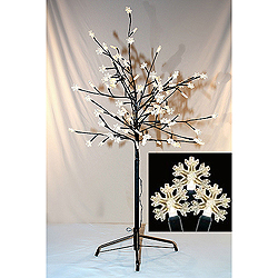 36 Inch Warm White LED Snowflake Tree 96 LED Warm White Lights