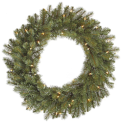 24 Inch Colorado Spruce Wreath 50 DuraLit Clear Lights