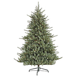 7.5 Foot Colorado Blue Spruce Artificial Christmas Tree 700 DuraLit Multi Lights
