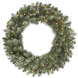 48 Inch Colorado Blue Wreath 200 DuraLit Clear Lights
