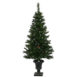 5 Foot Ashberry Pine Potted Artificial Christmas Tree Unlit