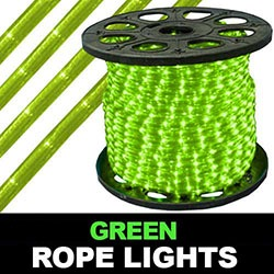 198 Foot Chasing Green Rope Lights Two Channel 4 Foot Increment