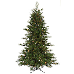 7.5 Foot Scotch Pine Artificial Christmas Tree 450 DuraLit Clear Lights