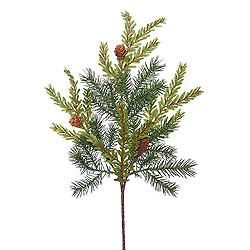 Hemlock Angel Pine with Pine Cones Decorative Artificial Christmas Spray Unlit Set of 36