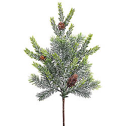 18 Inch Frosted Hemlock Angel Pine Spray