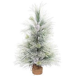 3 Foot Frosted Norway Pine Artificial Christmas Tree Unlit