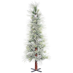 5 Foot Frosted Norway Alpine Artificial Christmas Tree Unlit