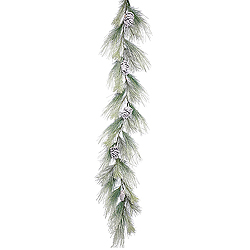 6 Foot Frosted Norway Pine Garland