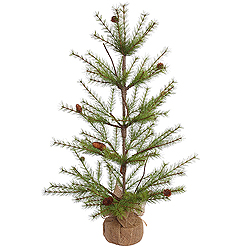 3 Foot River Pine Artificial Christmas Tree With Pine Cones Unlit