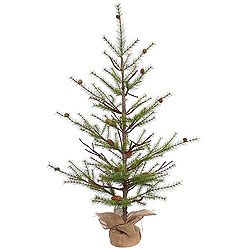 4 Foot River Pine Artificial Christmas Tree With Pine Cones Unlit