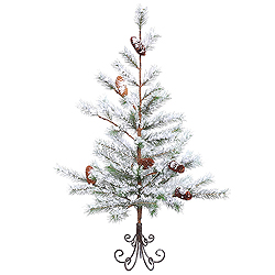 3 Foot Flocked Desert Pine Artificial Christmas Tree Unlit