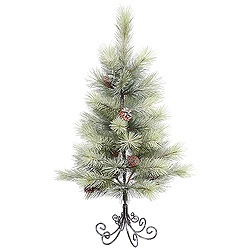 3 Foot Frosted Bellevue Pine Artificial Christmas Tree Unlit