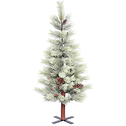 4.5 Foot Frosted Bellevue Alpine Artificial Christmas Tree Unlit