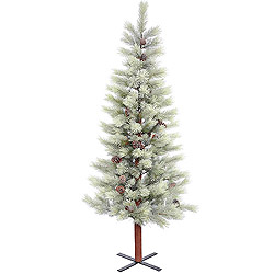 6.5 Foot Frosted Bellevue Alpine Artificial Christmas Tree Unlit
