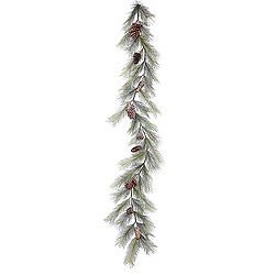 6 Foot Frosted Bellevue Pine Garland