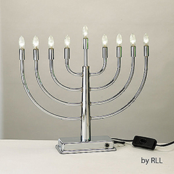 LED Low Voltage Lighted Chanukah Menorah Box of 2