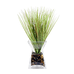 Grass In Acryllic Water Glass Vase