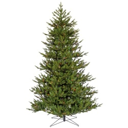 7.5 Foot Granton Spruce Artificial Christmas Tree 600 LED Multi Lights