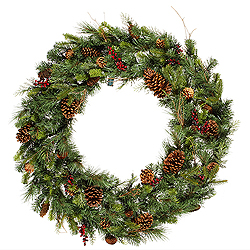 36 Inch Cibola Mixed Berry Artificial Christmas Wreath Unlit