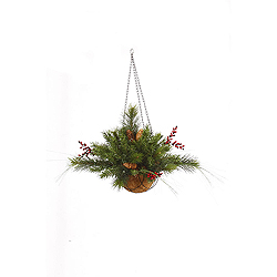 20 Inch Mixed Berry Cone Hanging Basket