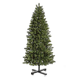 9.5 Foot Slim Grand Teton Artificial Christmas Tree 1000 LED Warm White Lights