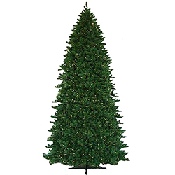 15 Foot Teton Residential Artificial Christmas Tree 3500 LED Warm White Lights