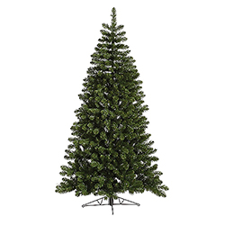 7.5 Foot Grand Teton Half Artificial Christmas Tree Unlit