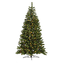 7.5 Foot Grand Teton Half Artificial Christmas Tree 250 Clear Lights