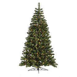 9.5 Foot Grand Teton Half Artificial Christmas Tree 450 LED Warm White Lights