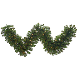 25 Foot Grand Teton Garland 400 DuraLit Clear Lights