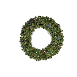 30 Inch Grand Teton Wreath 50 LED Multi Lights