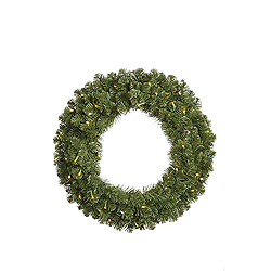 6 Foot Grand Teton Artificial Christmas Wreath 400 LED Warm White Lights
