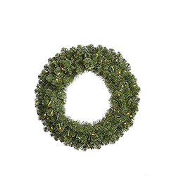 84 Inch Grand Teton Wreath 800 DuraLit Clear Lights