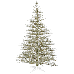 7.5 Foot Champagne Stiff Needle Artificial Christmas Tree Unlit