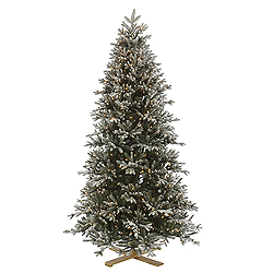 10 Foot Frosted Balsam Fir Artificial Christmas Tree 1350 Clear Lights