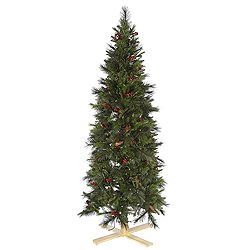 6 Foot Slim Devonshire Mixed Artificial Christmas Tree Unlit
