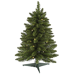 2 Foot Battery Operated LED Artificial Christmas Tree 30 LED Warm White Lights