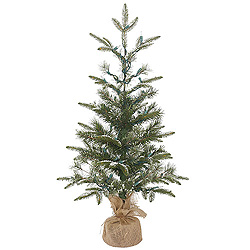 3 Foot Frosted Pasco Mixed Pine Artificial Christmas Tree Unlit