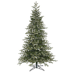 9 Foot Frosted Pasco Mixed Pine Artificial Christmas Tree Unlit