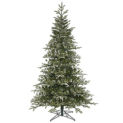 9 Foot Frosted Pasco Mixed Pine Artificial Christmas Tree 750 LED Warm White Lights