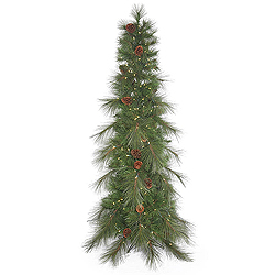 7.5 Foot Big Cascade Pine Artificial Christmas Tree 350 LED Warm White Lights