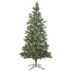10.5 Foot Full Redmond Spruce Artificial Christmas Tree 1000 Duralit LED Italian Single Mold Warm White Lights on Green Wire