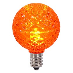 25 G40 LED Orange Retrofit Replacement Bulbs 10 LEDs per bulb.