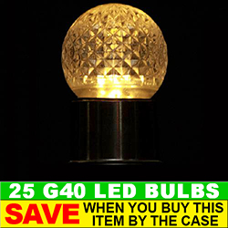 G40 LED Clear Retrofit Night Light Bulb Box of 25