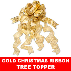 Gold Christmas Tree Topper Ribbon