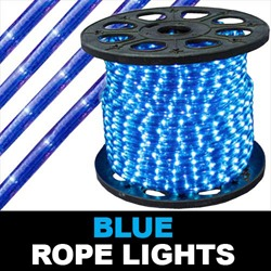 150 Foot Blue Rope Lights 2 Foot Increments
