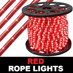 150 Foot Red Rope Lights 2 Foot Increments