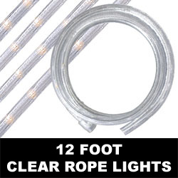 Clear Rope Lights 12 Foot