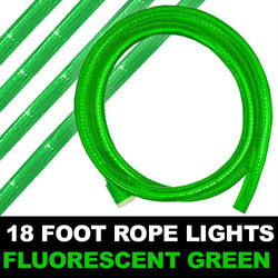 Fluorescent Green Rope Lights 18 Foot