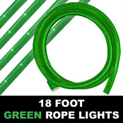 Green Rope Lights 18 Foot